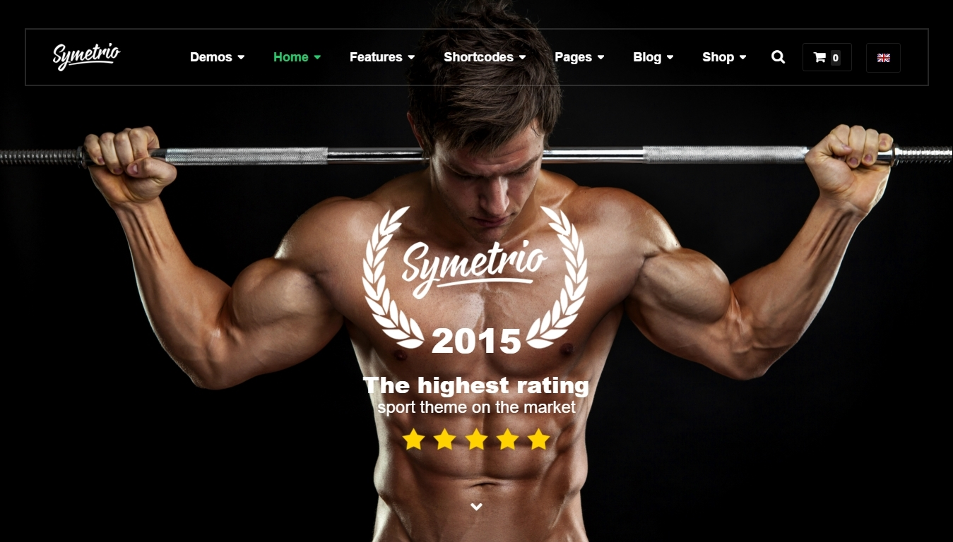 Responsive themes for fitness club website on WordPress