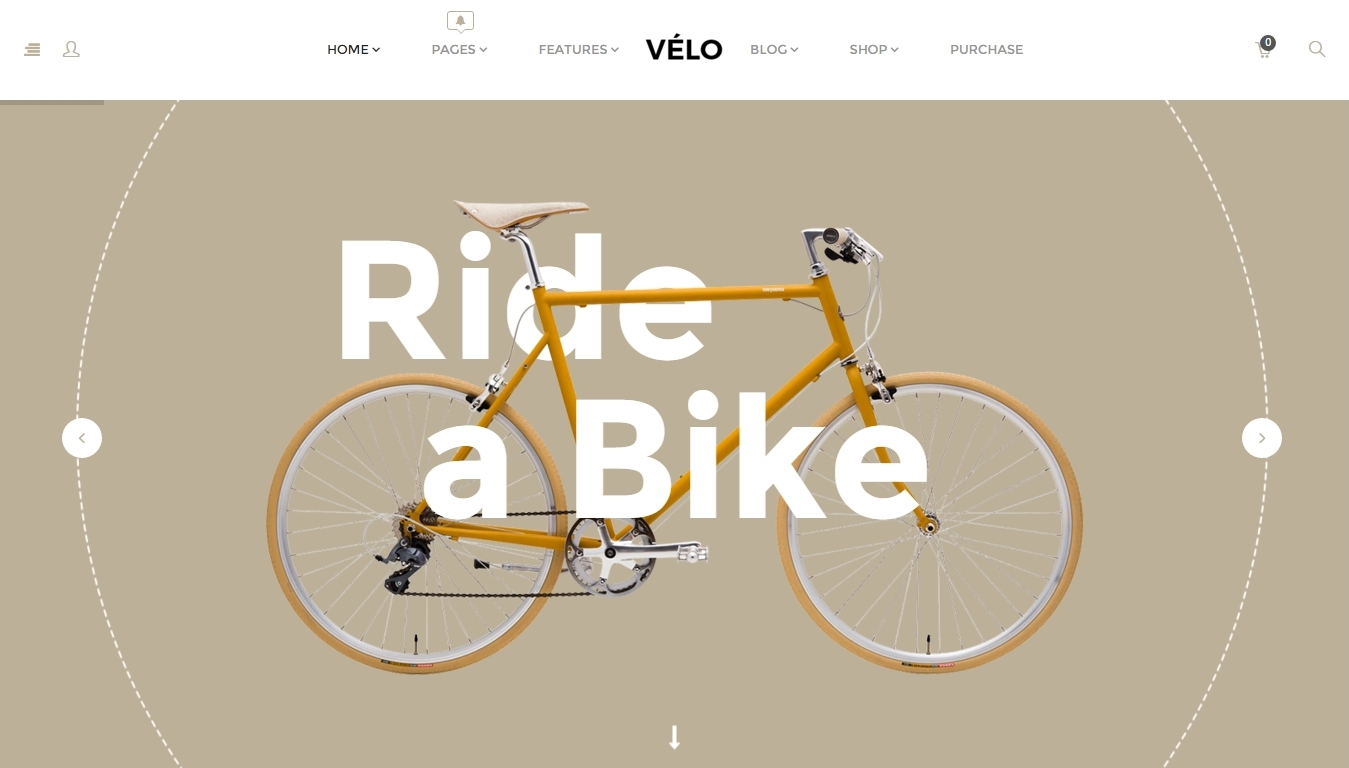 Velo — Woocommerce theme- store for selling bicycles