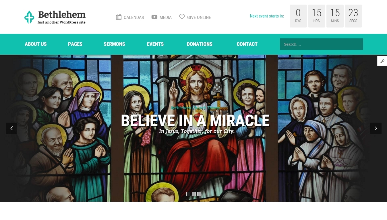 WordPress church themes 2016