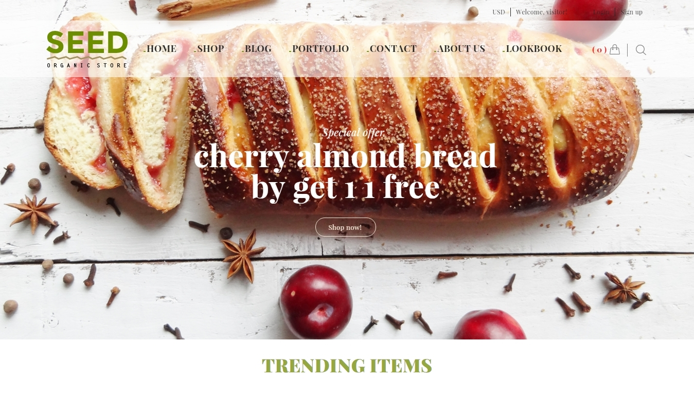 responsive food and cosmetic Woocommerce themes