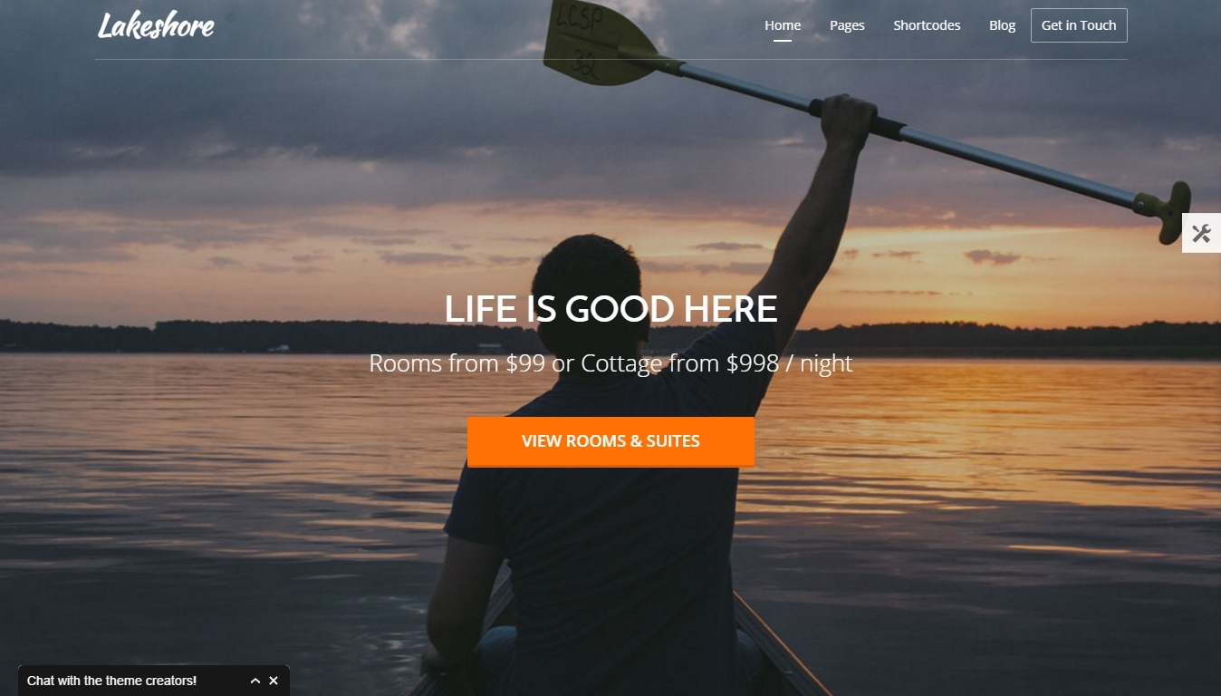 the best responsive wordpress themes of an inn, hotel, apartment and resort