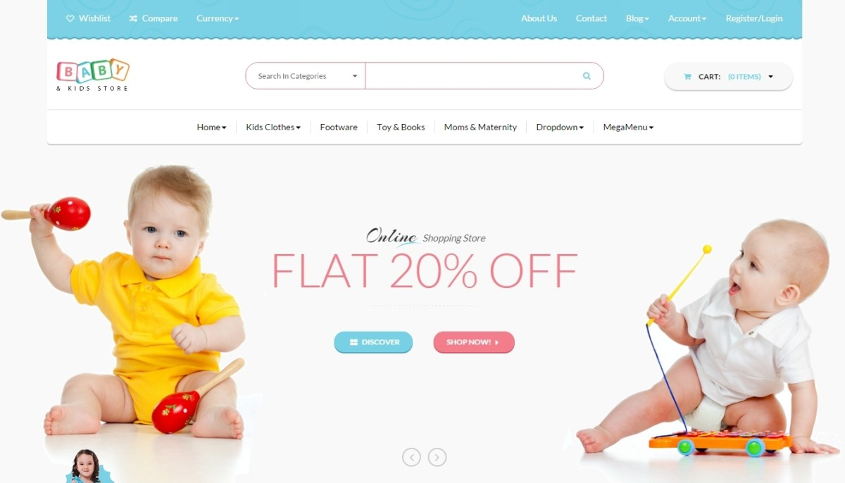 The Best Kids Store WordPress Themes 2016