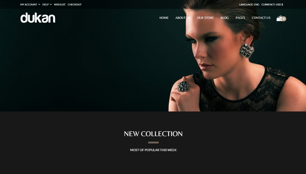 excellent jewelry shop WordPress themes 2016