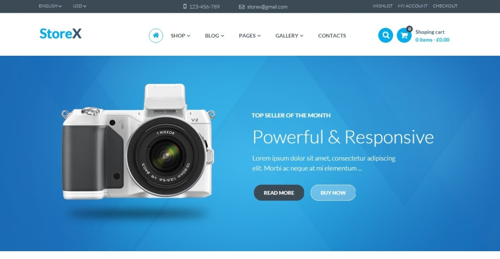 great electronics website templates of 2016