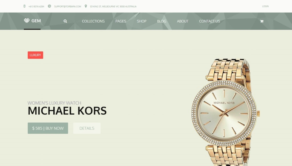 magnificent jewelry shop WordPress themes 2016