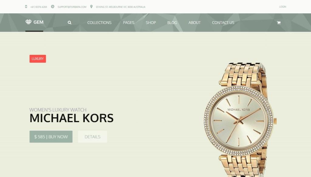 magnificent jewelry shop WordPress themes 2016