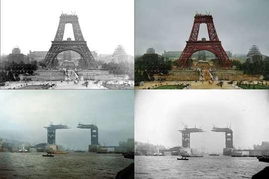10 самых знаменитых строек мира в черно-белых и раскрашенных фотографиях