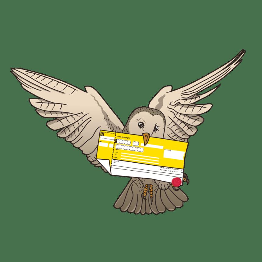 Uil met post