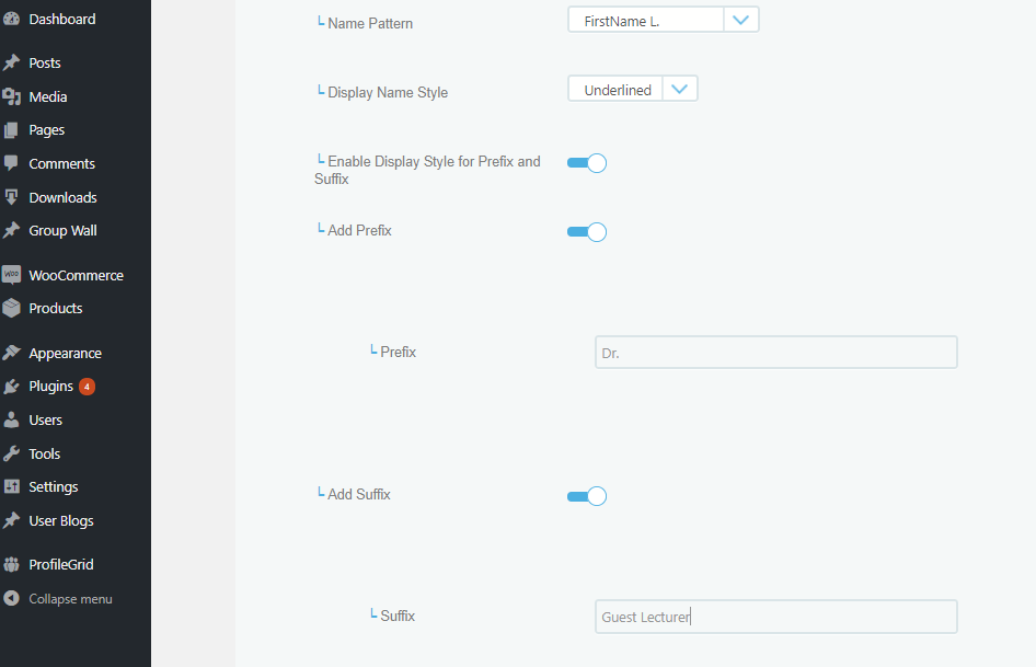 How To Customize User Display Name In Membership Sites