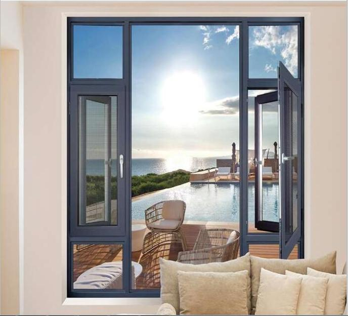 Panoramic door and window with wide field of view