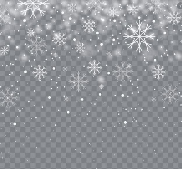 Christmas Snowflakes Profile Frame