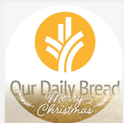 Our Daily Bread Merry Christmas Profile Frame