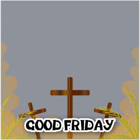 Good Friday Profile Frame