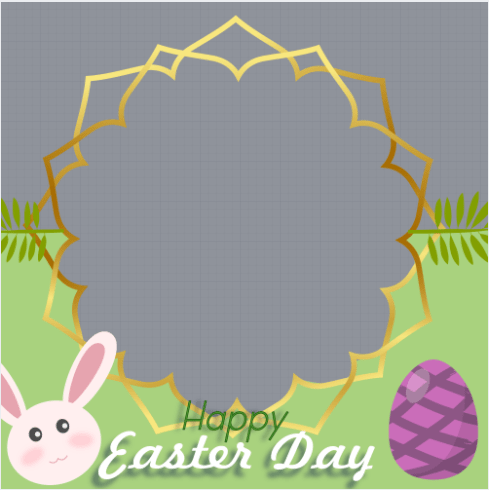 Easter Day Profile Frame