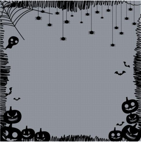 Halloween Scary Frame