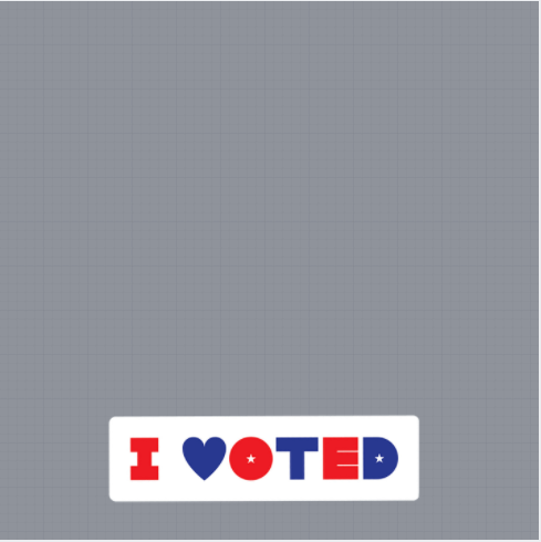 I Voted Frame