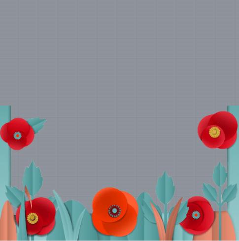 Poppy Flower Frame