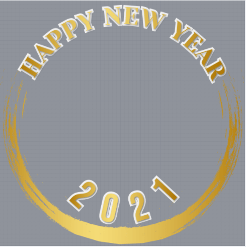 Happy New Year 2021 Profile Frame