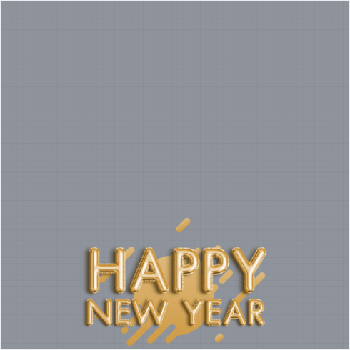 Happy New Year Profile Frame