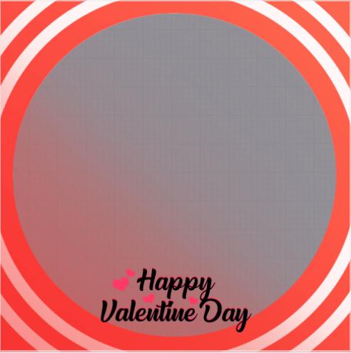 Valentine Day Profile Frame