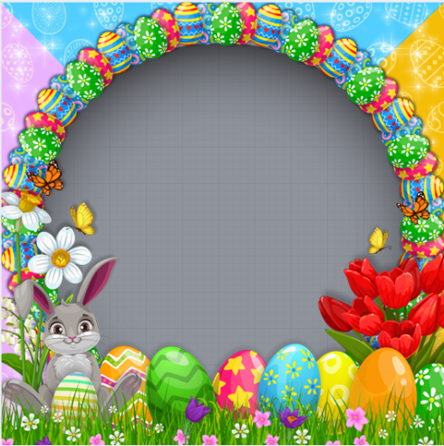 Happy Easter Day Profile Frame
