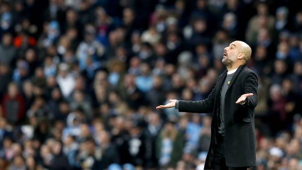 City boss Guardiola given £20,000 fine