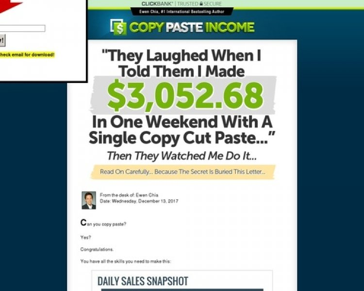 Ewen Chia's Copy Paste Income!