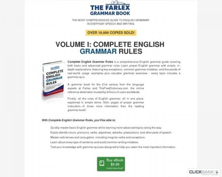Complete English Grammar Rules – The Farlex Grammar Book