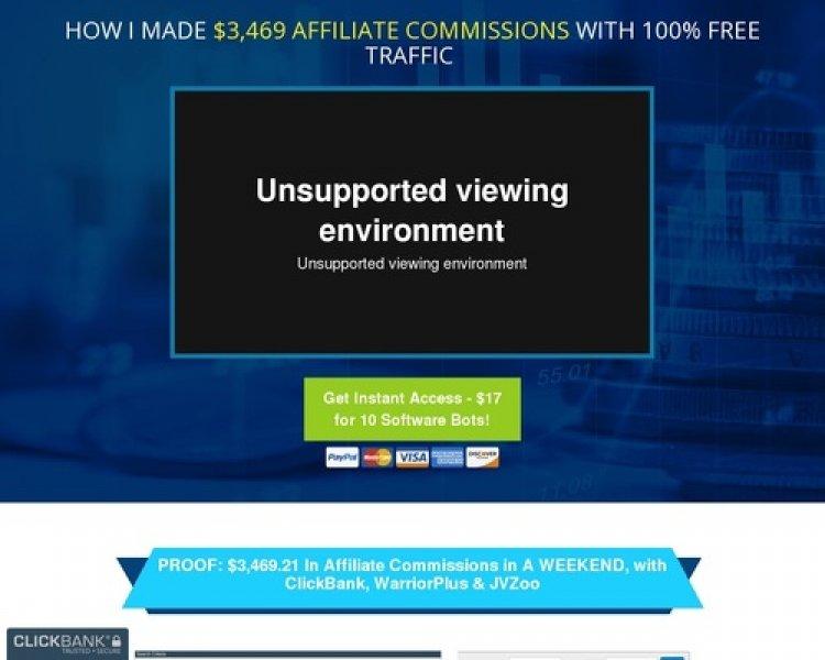 Traffic Bots – 10 Affiliate Tools = 75% Commissions & $$ Cash Prizes!