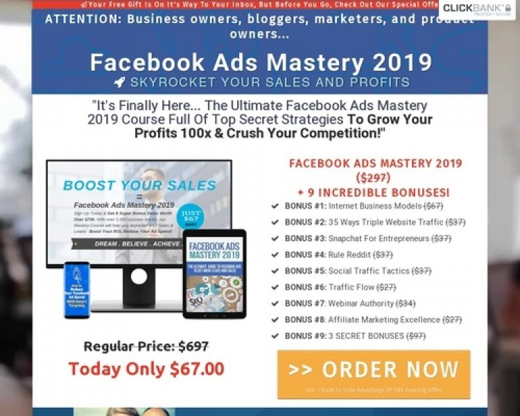 Facebook Ads Mastery 2019: High Converting Online Training Course