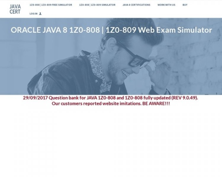 Oracle Java 1z0-808 Web Exam Simulator