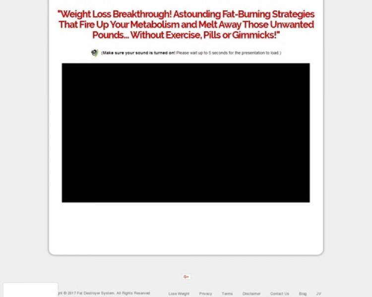 Fat Destroyer System – Stunning Sales Page Design High Converting