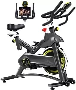 Cyclace Exercise Bike Stationary 330 Lbs Weight Capacity- Indoor Cycling Bike with Comfortable Seat Cushion