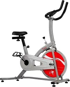 Sunny Health & Fitness Indoor Exercise Stationary Bike with Digital Monitor 22 LB Chromed Flywheel