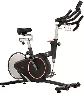 Sunny Health & Fitness Magnetic Rear Belt Drive Indoor Cycling Bike with RPM Cadence Sensor - SF-B1709