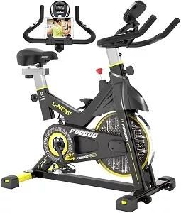 pooboo Indoor Cycling Bike, Belt Drive Indoor Exercise Bike Stationary Bike LCD Display for Home Cardio Workout Bike Training