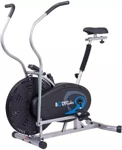 Body Rider Body Flex Sports Upright Exercise Fan Bike, Indoor Stationary Bike for Cycling