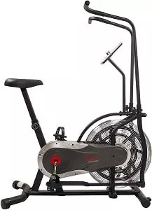 Sunny Health & Fitness Air Bike, Fan Exercise Bike with Unlimited Resistance and Tablet Holder