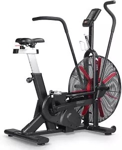 leikefitness Fan Exercise Bike Upright AirBike Indoor Cycling Stationary Bicycle with Unlimited Air Resistance System