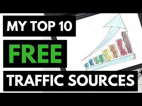 How To Get FREE Traffic to Your Website (Top 10 Sources)!