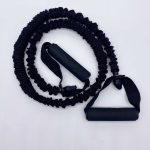 Black Resistance Band With Handle