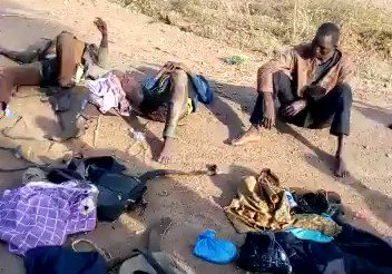 Faces of Kidnappers Caught Along Okene-Lokoja Express Road