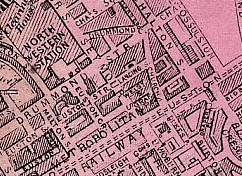 Kelly's Post Office Directory Map Of London 1886. Metropolitan Goods Conference. Map Of Collection and Delivery Boundaries. From Mapco.net