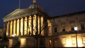 University College London (UCL) Wilkins Building at night | ProfJoeCain