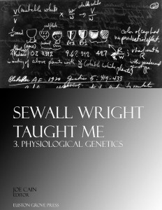 Physiological Genetics: Sewall Wright Taught Me, volume 3. Edited by Joe Cain. ISBN 9781906267049