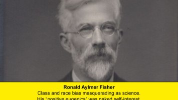 Ronald Aylmer Fisher was a eugenicist. This image from 1943 courtesy National Portrait Gallery