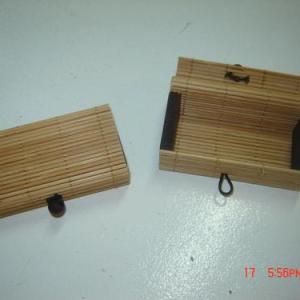 Caixa de bambu 9x5x3cm