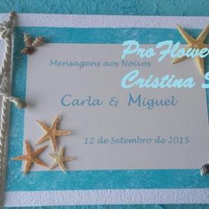 Livro de Honra 28x21cm personalizado - MAR - PRAIA