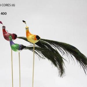 Pavão 6 uni 3 cores 28cm