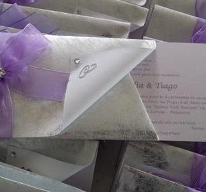 Convite prata e lilás